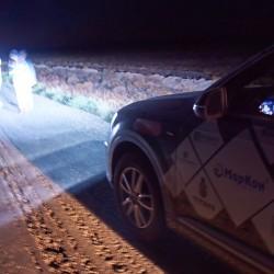 Audi Q7 2015 3.0 333 л.с. TFSI Снимаем след ракеты запущенной с космодрома Капустин-Яр