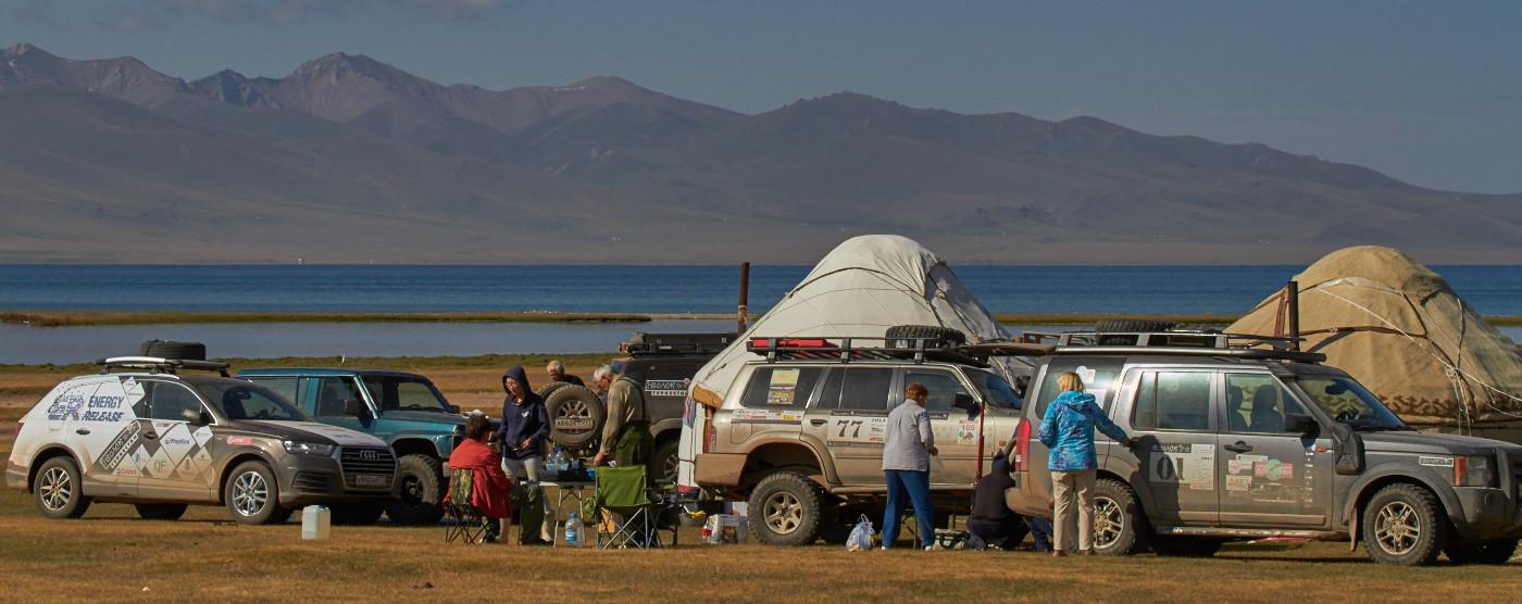 Лагерь на озере Сон-куль