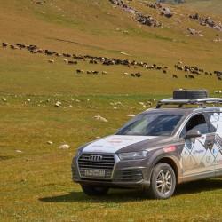 Audi Q7 2015 3.0 333 л.с. TFSI в горах Кочкор-Ата