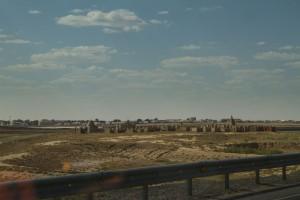 Мусульманское кладбище на западе Казахстана. На побережье Каспийского моря
