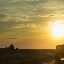 Закат на побережье Каспийского моря