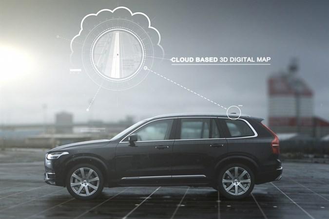 Одна из технологий Volvo - 3D цифровая карта