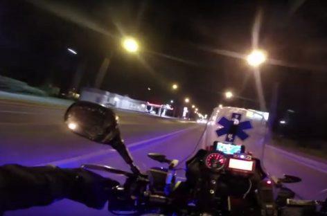 Скорая помощь на мотоцикле