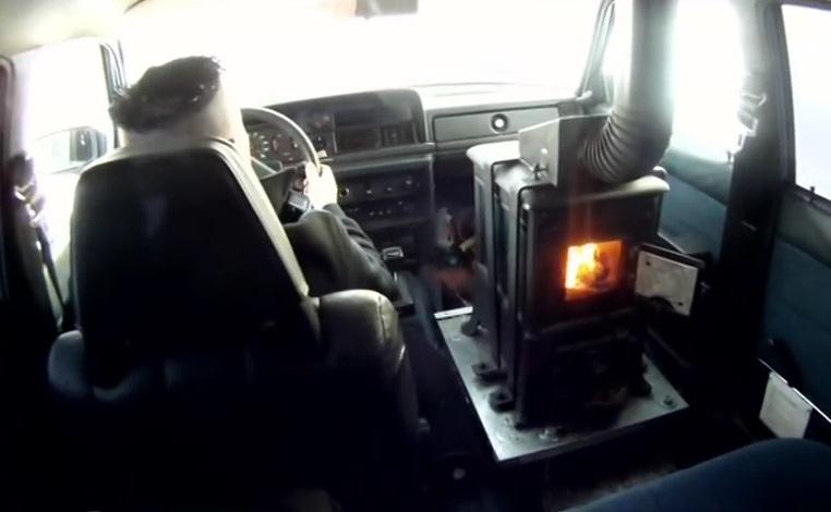 Volvo 240 с дровяной печью
