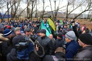 Акция протеста дальнобойщиков на трассе М2