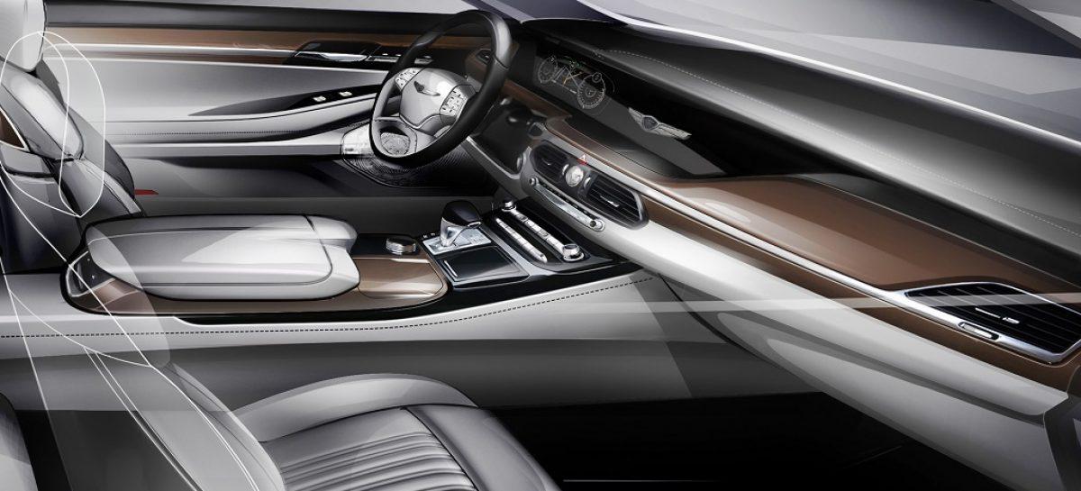 Hyundai показала, как будет выглядеть интерьер нового G90