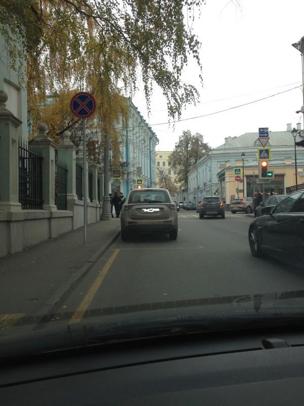 остановка перед знаком платная парковка