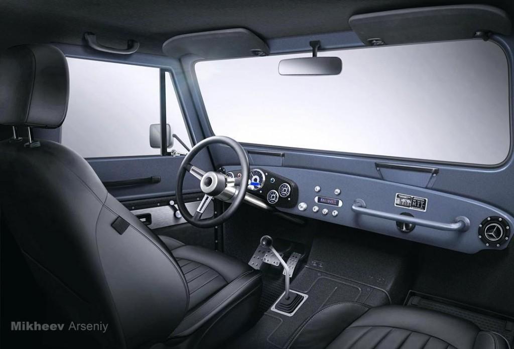 Салон возрожденного ГАЗ-69 от Truck Garage