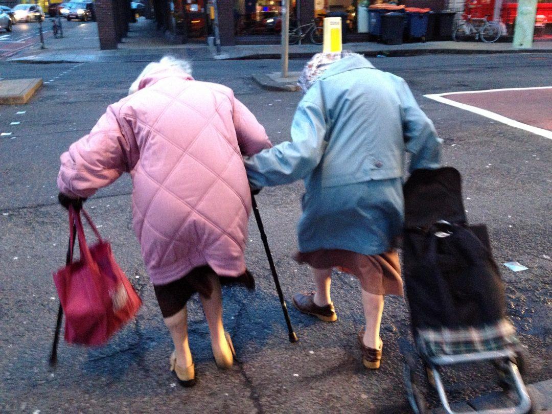 Бабушки на дороге