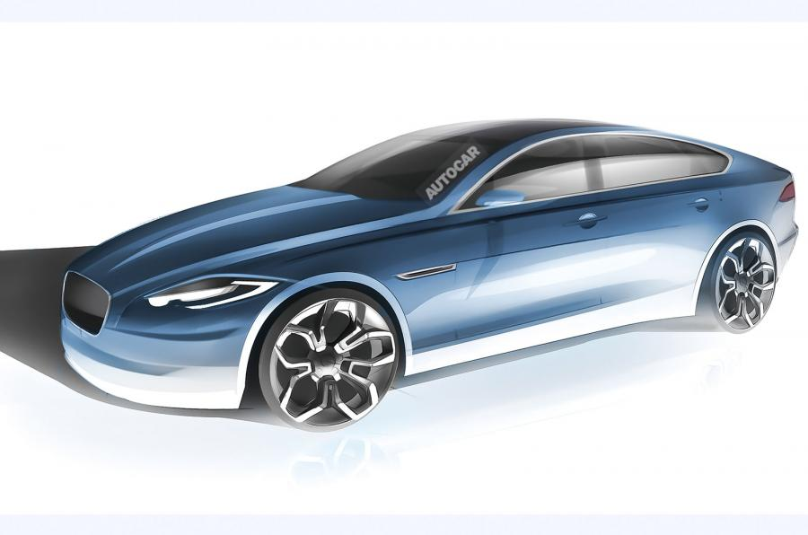 Скетч Jaguar XJ