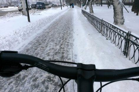 На велосипеде по зимней Москве
