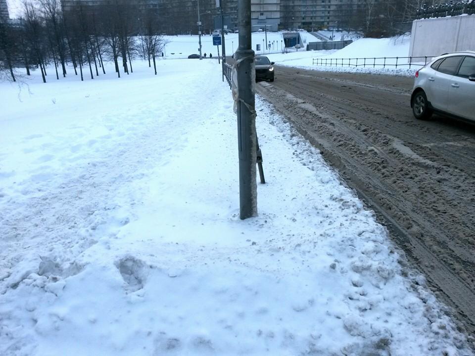 На велосипеде по московским зимним дорогам