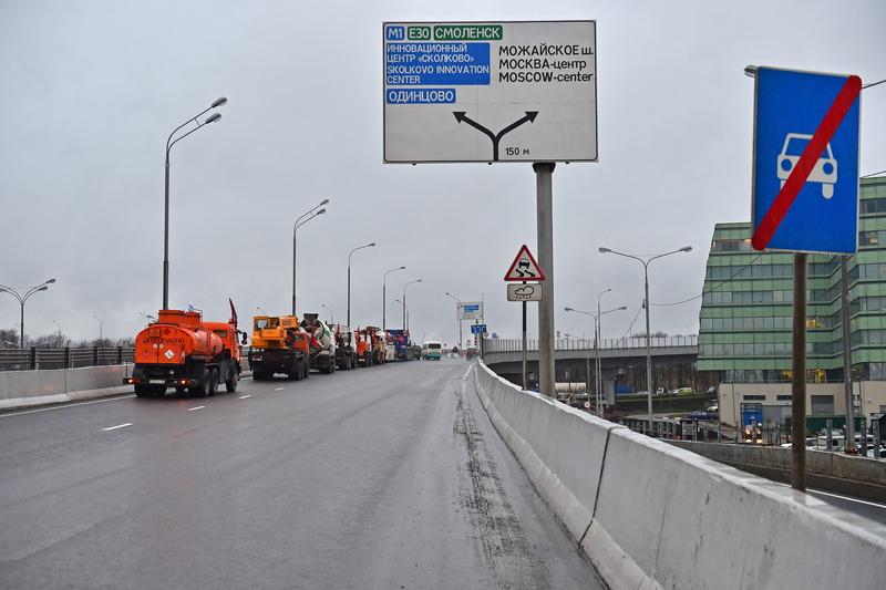 Развязка на пересечении МКАД и Можайского шоссе