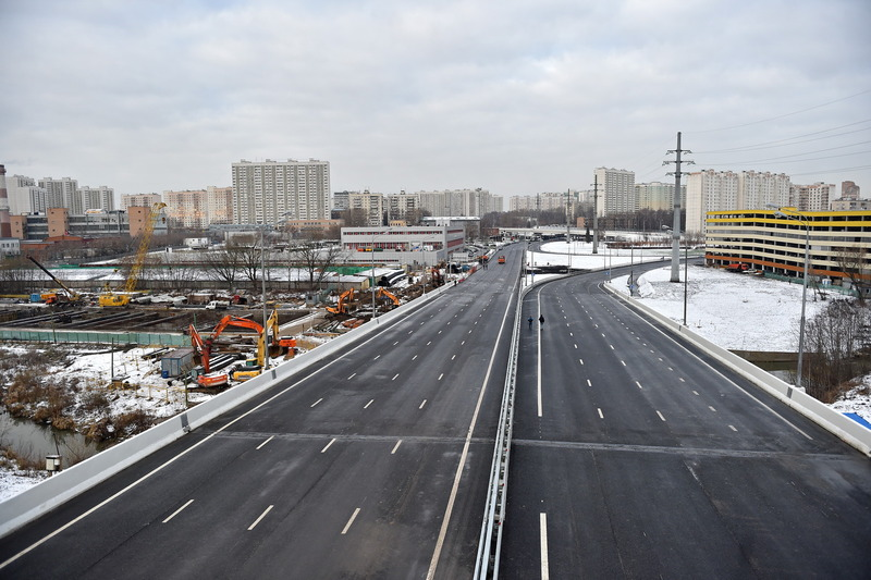 Развязка на пересечении Сколковского шоссе с Витебской и Вяземской улицами