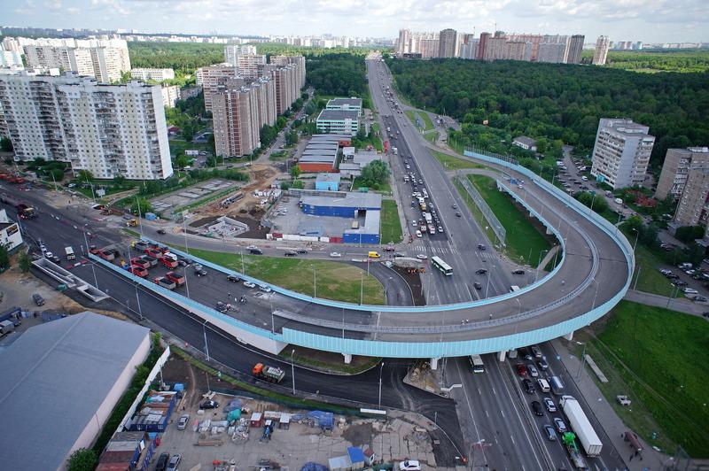 Развязка на пересечении Варшавского шоссе и 2-й Мелитопольской улицы