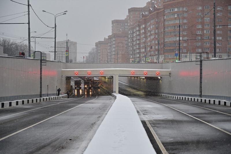 Тоннель на пересечении Большой Академической и Михалковской улиц