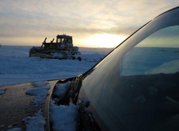 На трассе зимой