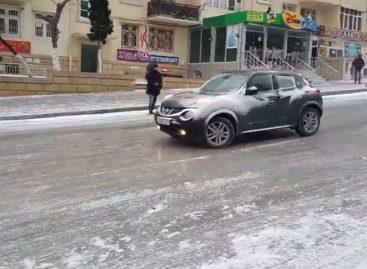 Зимняя дорога в Баку