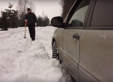Учимся ездить по снегу
