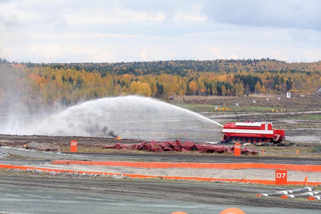 Пожарная машина на базе танка