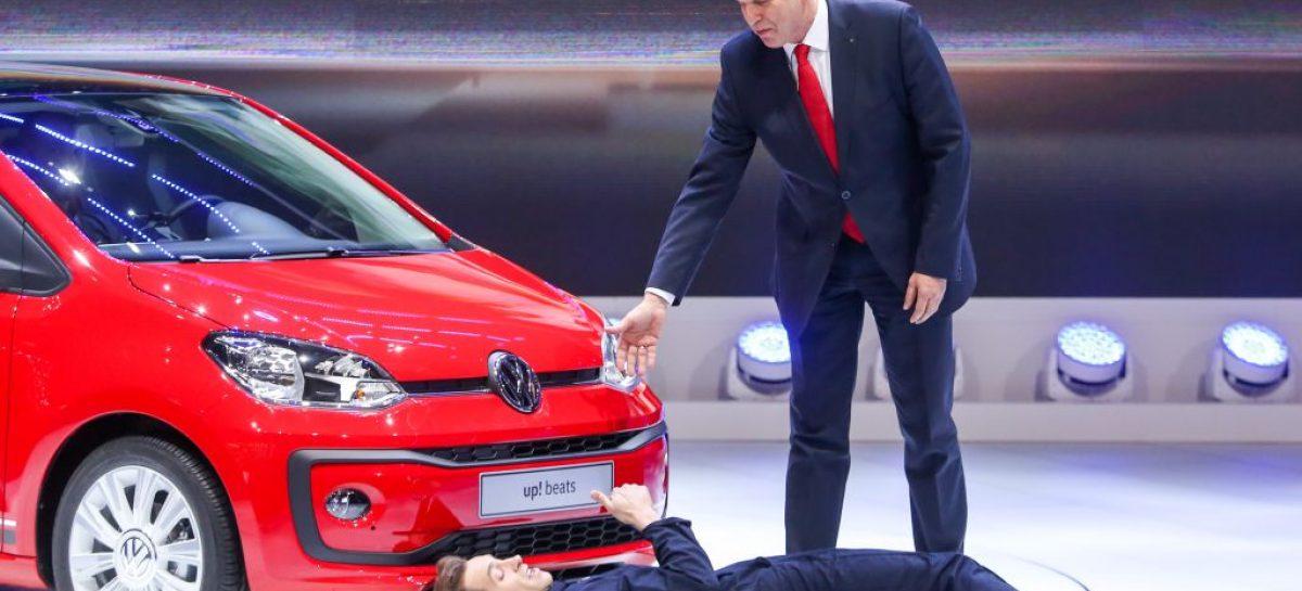 Во время презентации Volkswagen в Женеве произошел инцидент