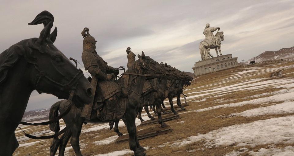 Волок в Монголии