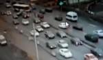 Автобус протаранил три автомобиля