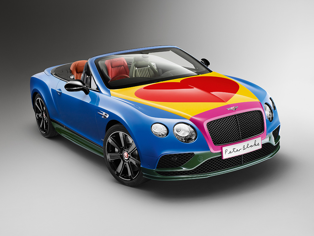 Bentley Continental GT V8 S Convertible в стиле поп-арт