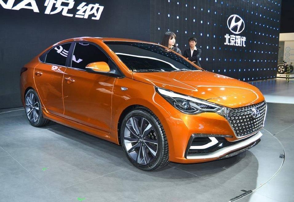 Прототип Hyundai Verna (Solaris) 2017 (Пекинский автосалон)