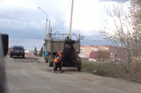Новая технология укладки дорожного покрытия