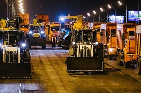 В Москве начинаются дорожные работы