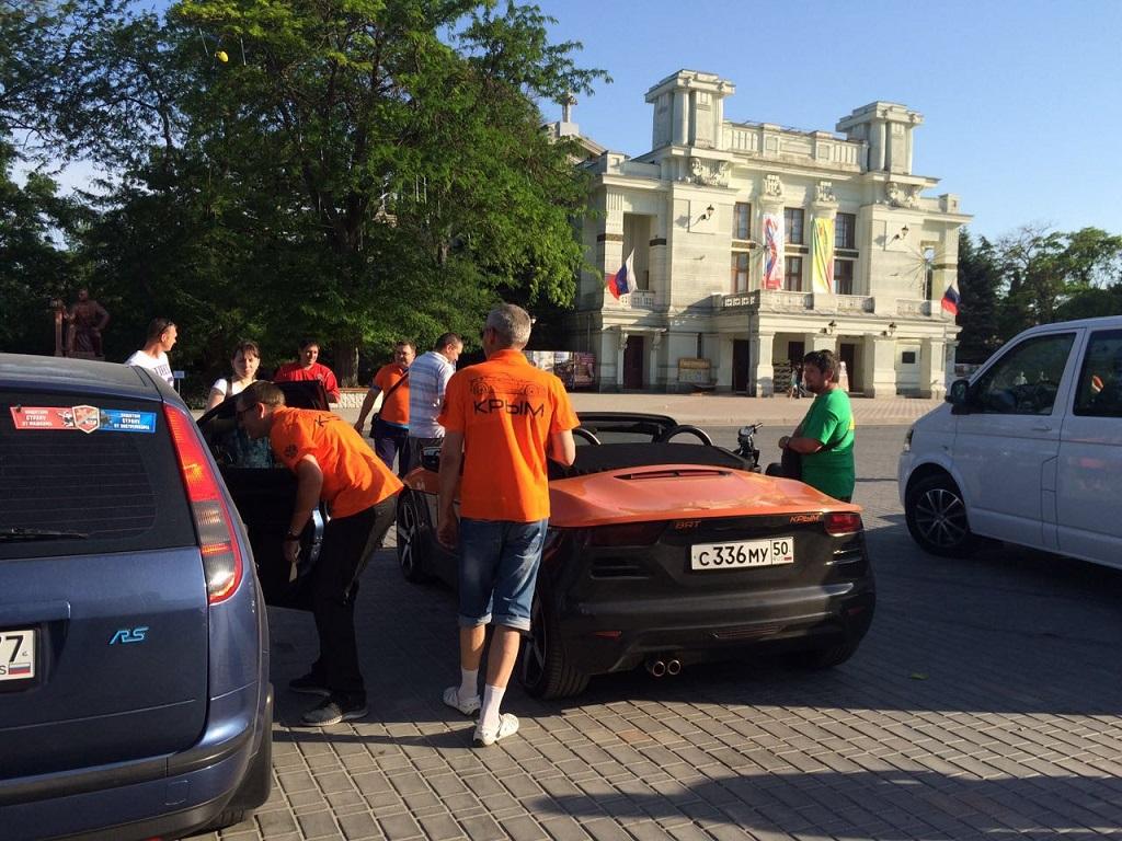 Автопробег на родстере Крым