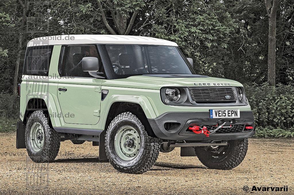 Неофициальные рендеры нового Land Rover Defender
