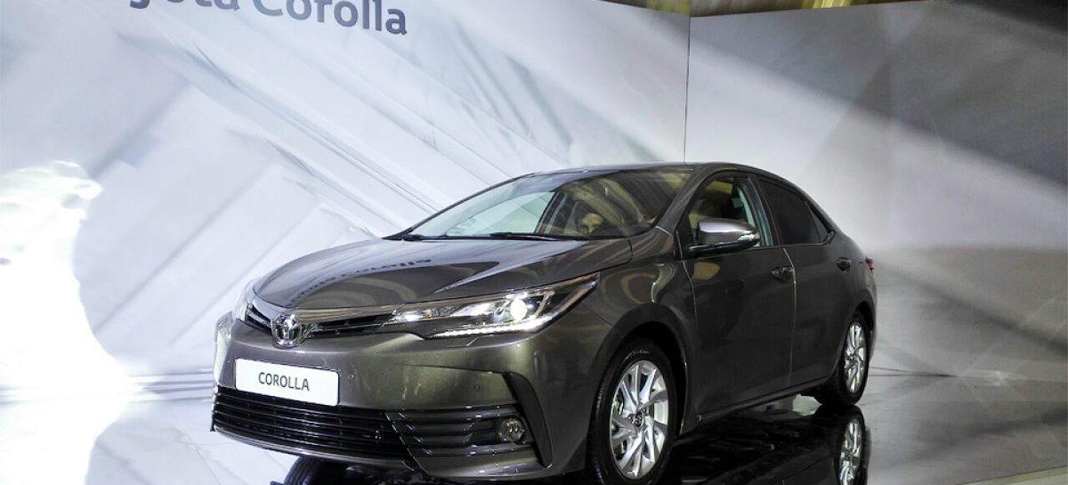 Corolla получила новый бампер и фары
