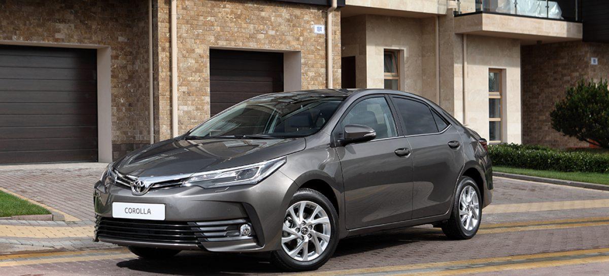 Пять комплектаций Toyota Corolla