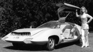 futuristic retro avto