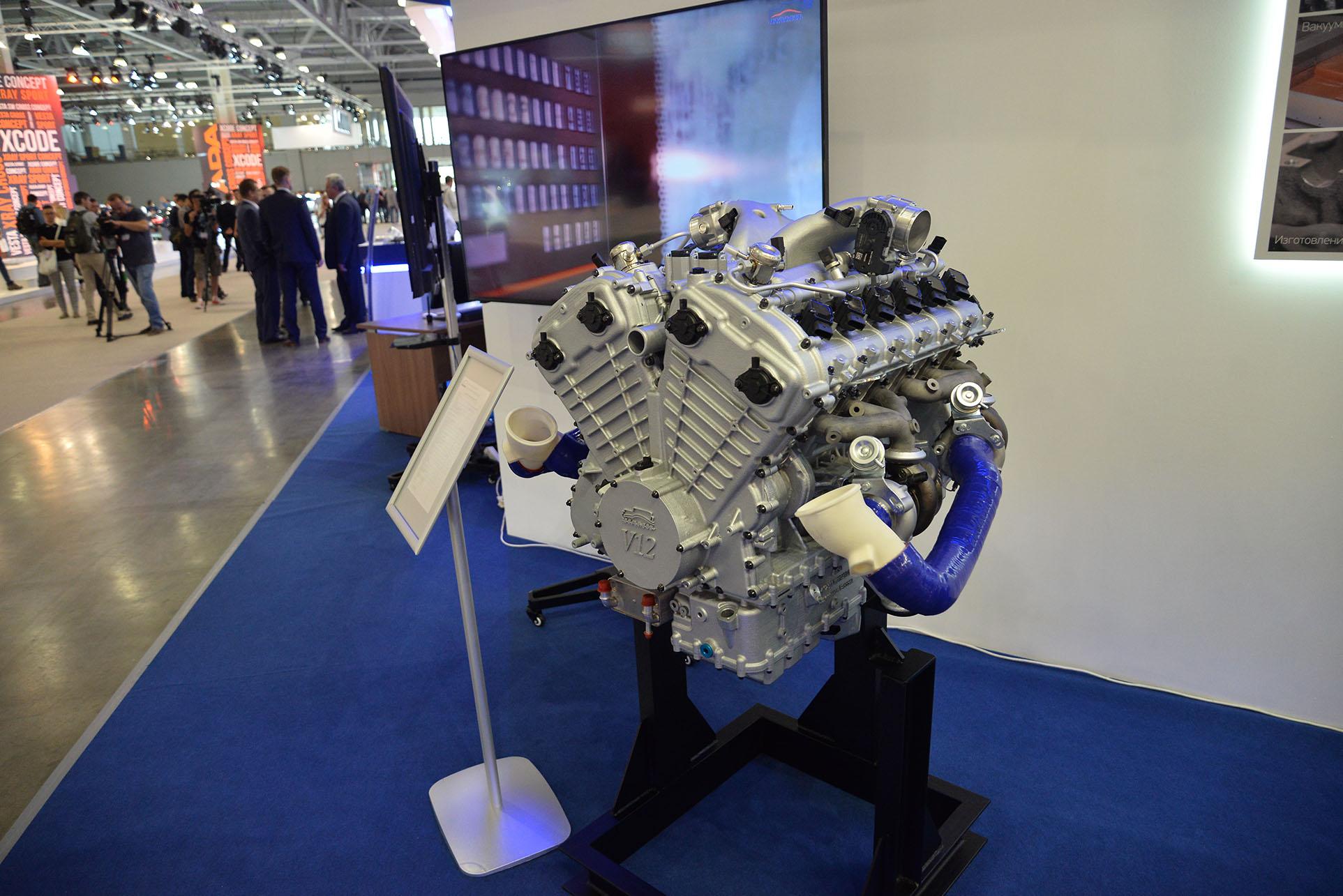 Двигатель V12 для машины президента. Создан инженерами Porsche и НАМИ