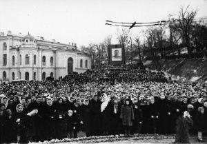 митинг на похоронах Сталина