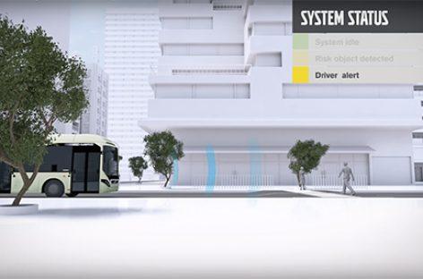 Автобусы Volvo смогут самостоятельно сигналить пешеходам