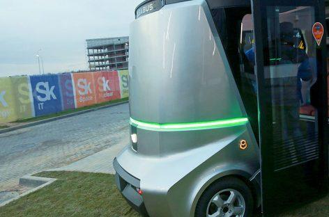 В «Сколково» представили первый в России беспилотный электроавтобус Matrёshka