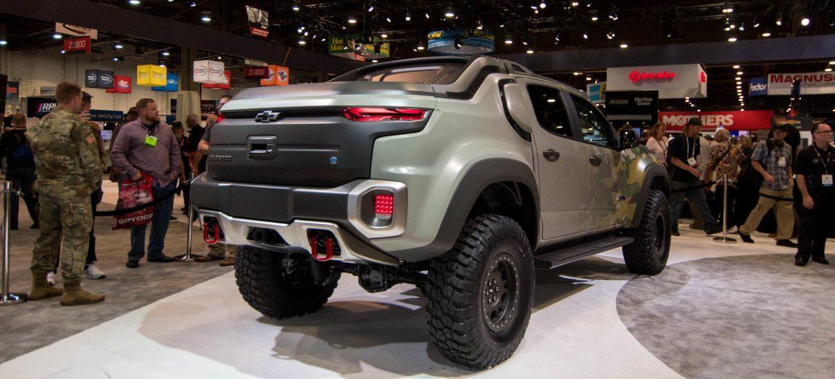 Chevrolet представил водородный пикап Colorado ZH2