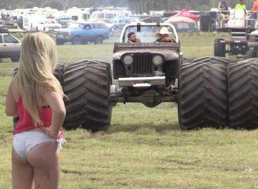 Болотные монстры и Девушки: трактор, машины, грузовики, вездеходы