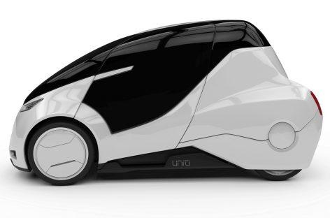 Трёхколесный электромобиль для хипстеров