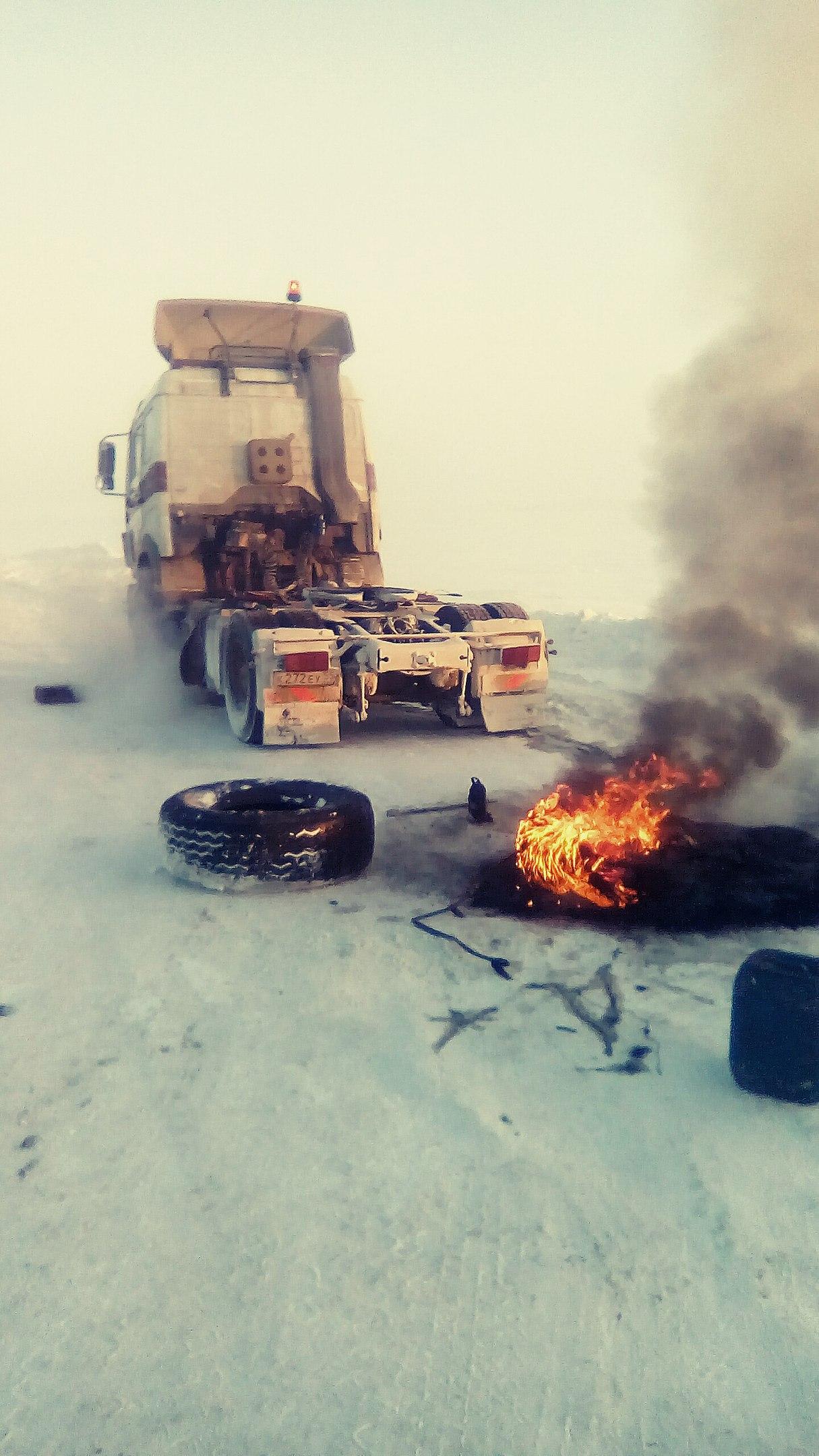 Дальнобойщики под Норильском декабрь 2016