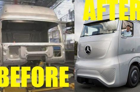 Производство грузовиков Мерседес на заводе в Германии