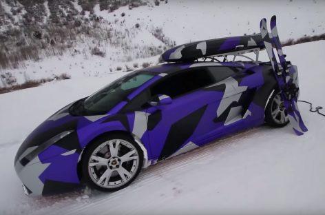Лыжи, санки, Lamborghini
