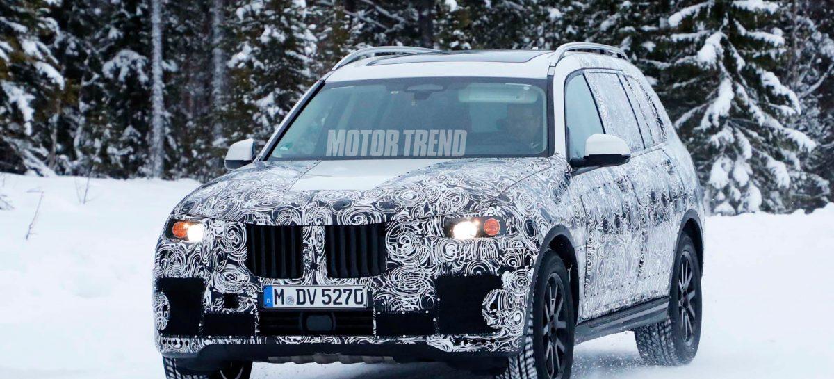 ШПИОНЕРИЯ. Зимние испытания прототипа BMW X7 в Швеции