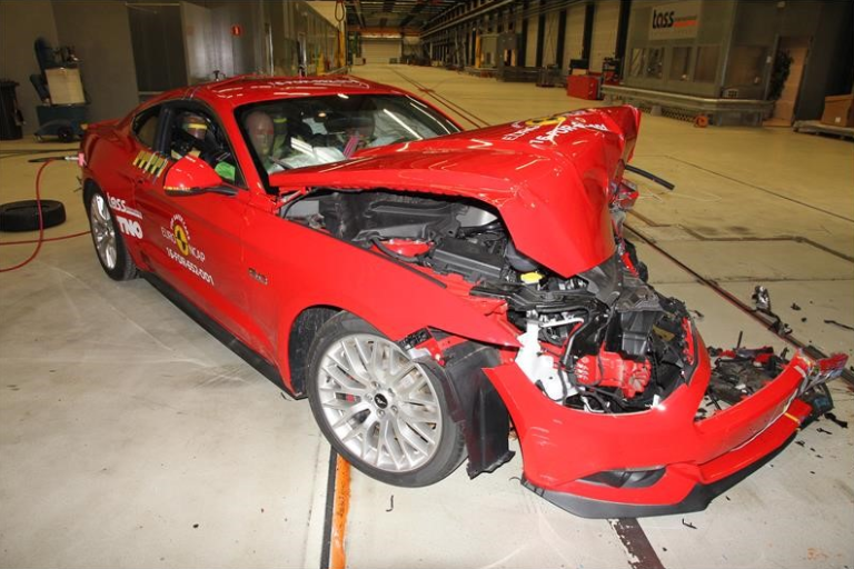 Ford Mustang тест EuroNCAP