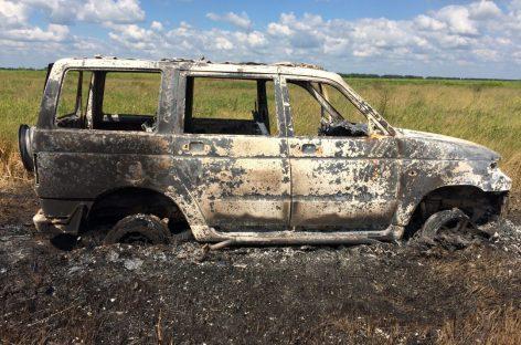 Сгорел УАЗ Патриот