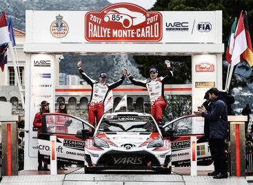 Toyota на подиуме ралли Монте-Карло WRC!